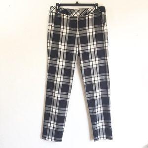 Trina Turk Aubree Ginza Tartan Plaid Pants Size 4